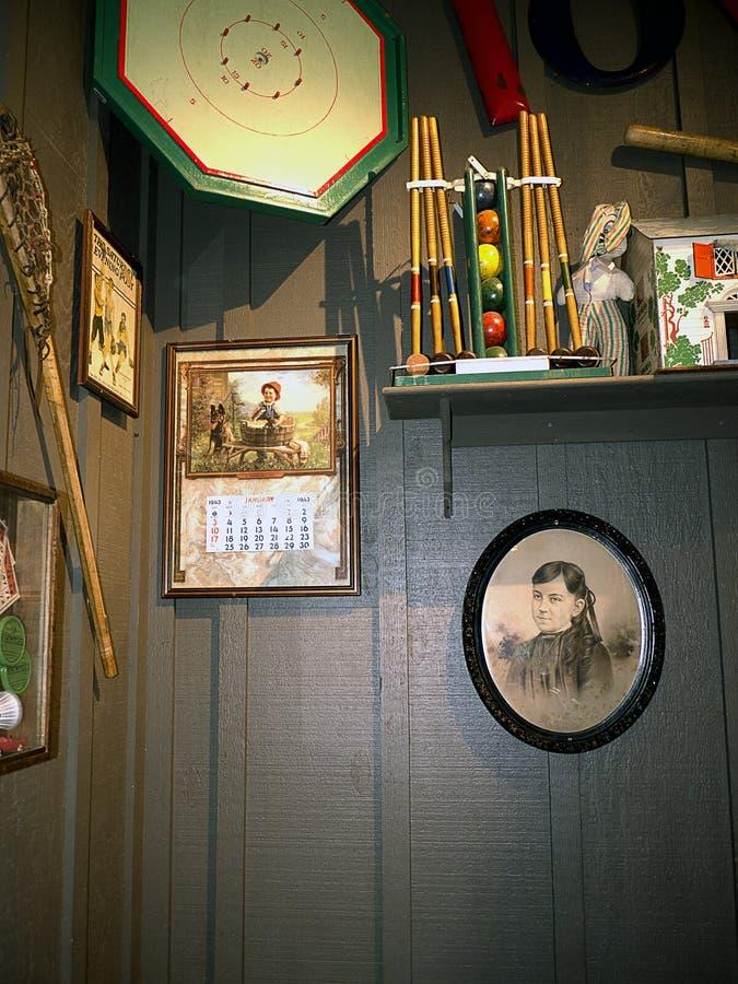 Детали Historial в ресторане в саванне в Georgia США стоковые фотографии rf