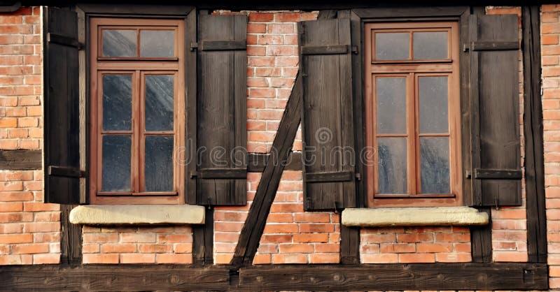 Детали timbered дома стоковые изображения rf