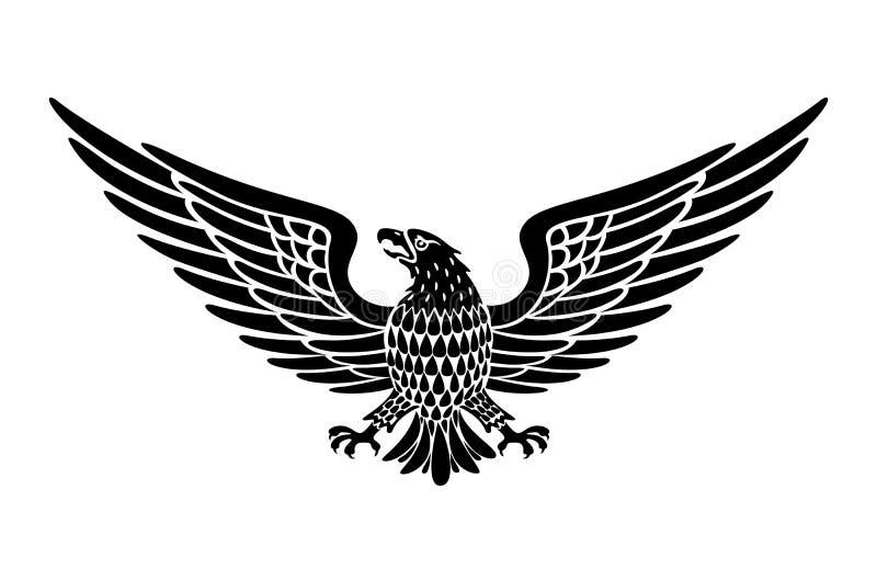 Детальной орел нарисованный рукой держа вектор переченя бесплатная иллюстрация