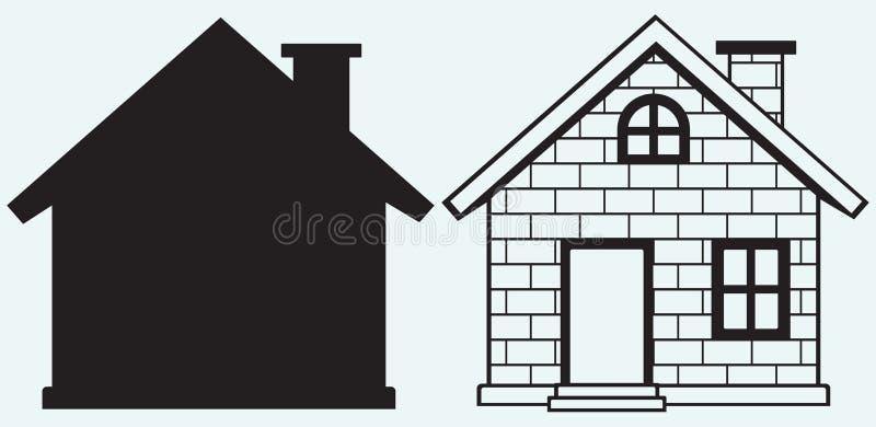 Детальный значок дома иллюстрация штока