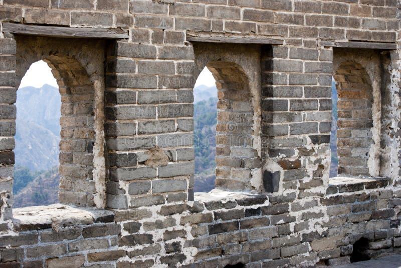 Деталь Великой Китайской Стены стоковое изображение rf