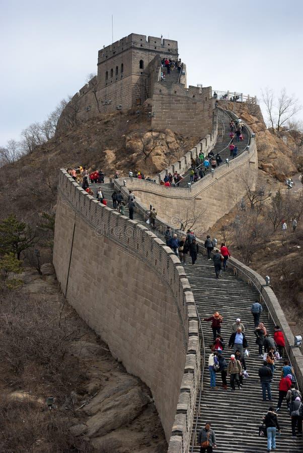 Деталь Великой Китайской Стены стоковые фото