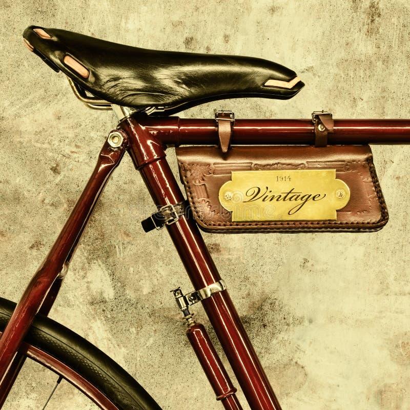 Деталь винтажного велосипеда стоковое изображение