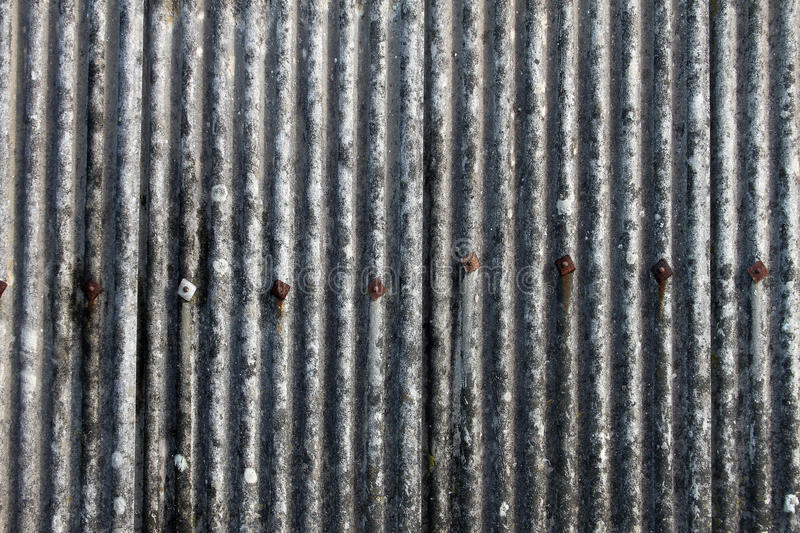 Деталь внешнего укрытия волнистого железа стоковое изображение rf