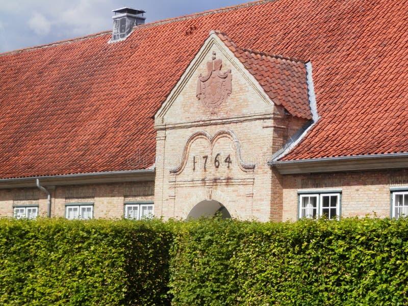 Деталь дворца Augustenborg стоковые изображения rf