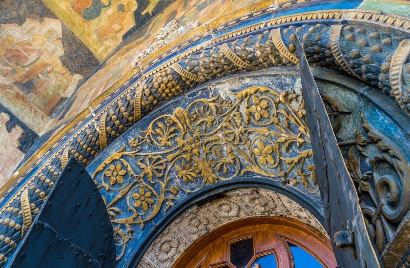 Деталь входа собора Архангела стоковое изображение rf