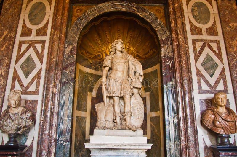 Деталь в бальном зале большого зала в Версаль стоковые изображения