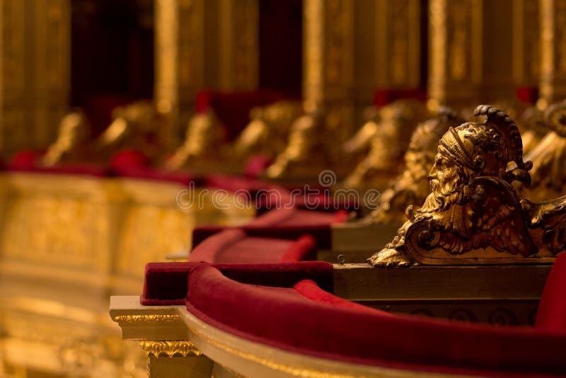 Деталь в венгерском оперном театре положения в Будапеште стоковое фото rf