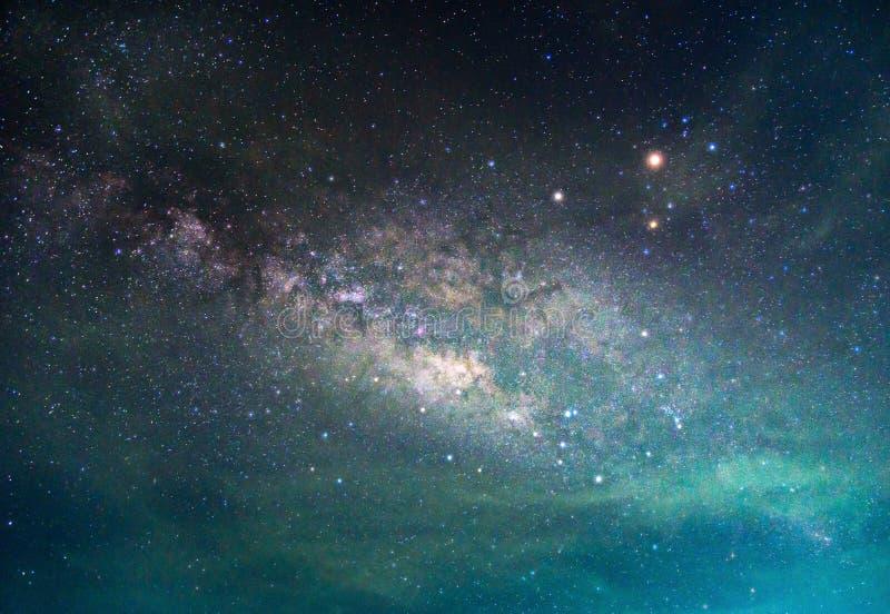 Деталь галактики млечного пути, долгая выдержка стоковое изображение