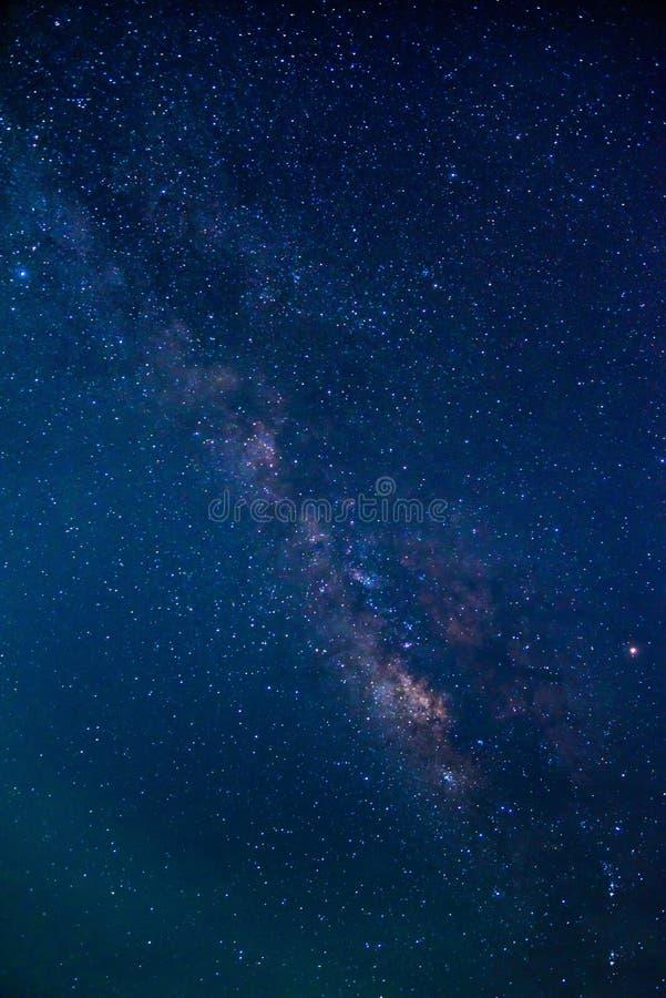 Деталь галактики млечного пути, photogra долгой выдержки стоковые фотографии rf
