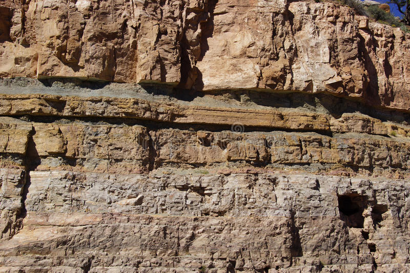 Деталь, геологохимические слои осадочной породы стоковое изображение