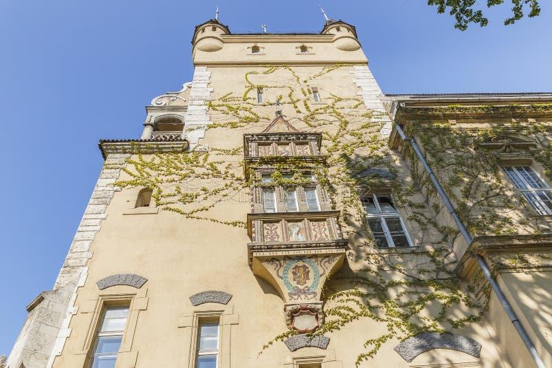 Деталь замка Vajdahunyad в Будапеште стоковые изображения rf