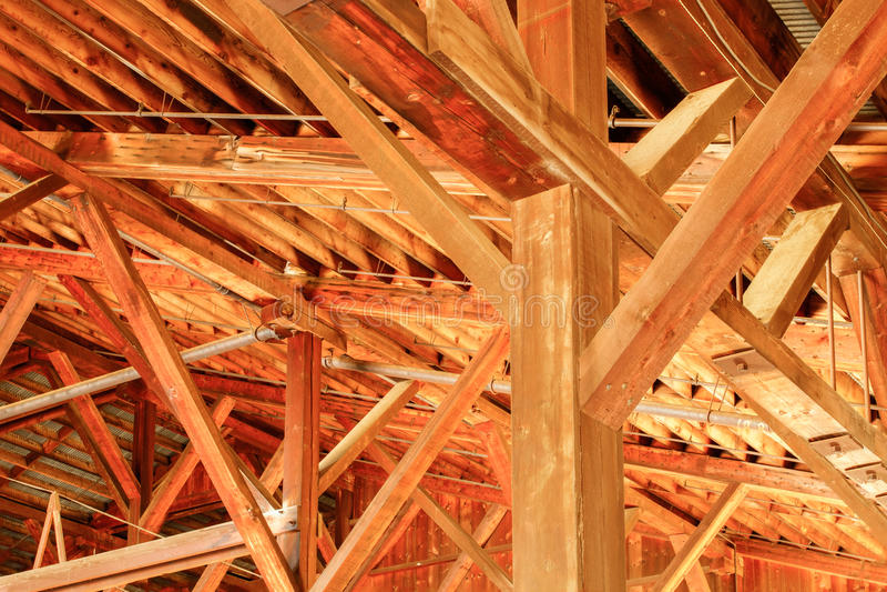 Деталь залы мельницы пиломатериала стоковые фото