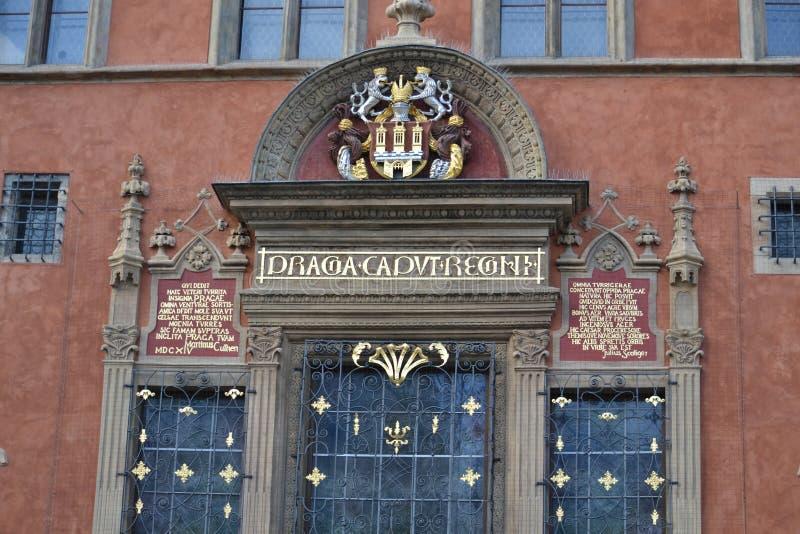 Download Деталь здания Праги стоковое изображение. изображение насчитывающей дом - 40580977