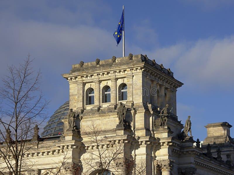 Деталь здания reichstag, Берлина стоковое фото