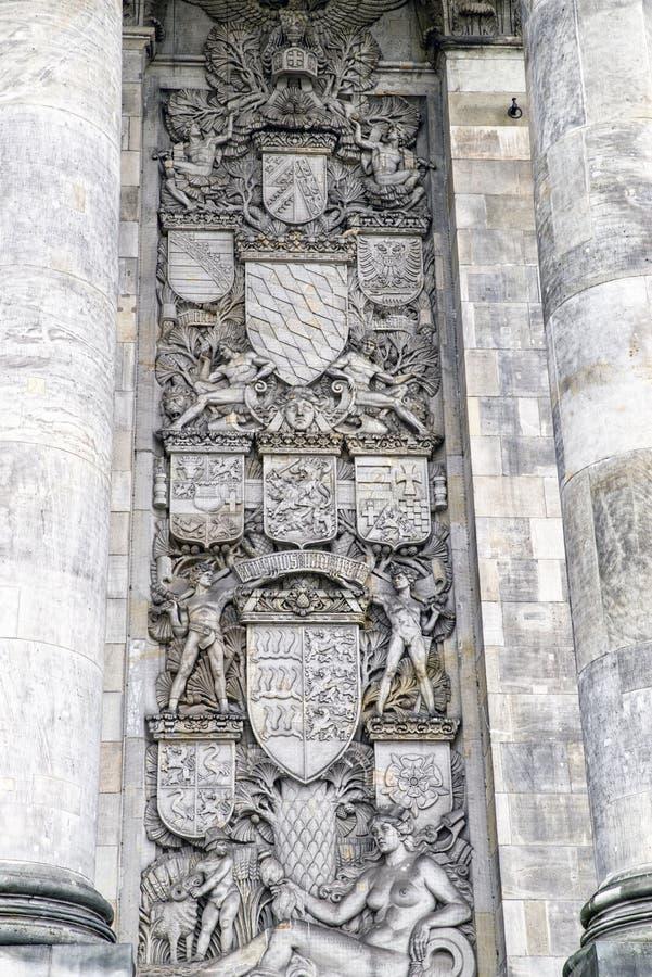 Деталь здания Reichstag в Берлине, Германии стоковое фото rf