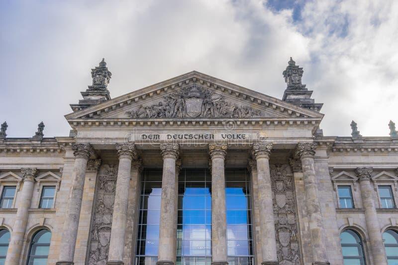 Деталь здания Reichstag стоковые фото