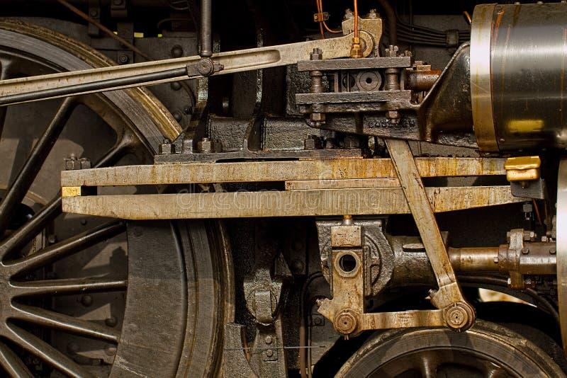 Деталь инженерства локомотива пара стоковые изображения rf