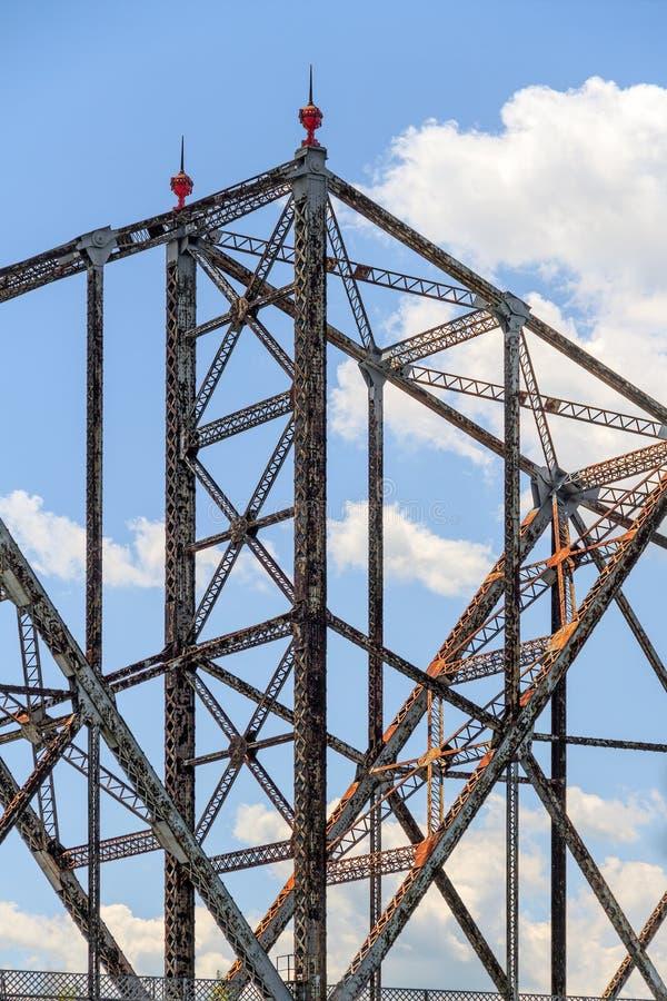 Деталь консольного моста структурная стоковое изображение rf