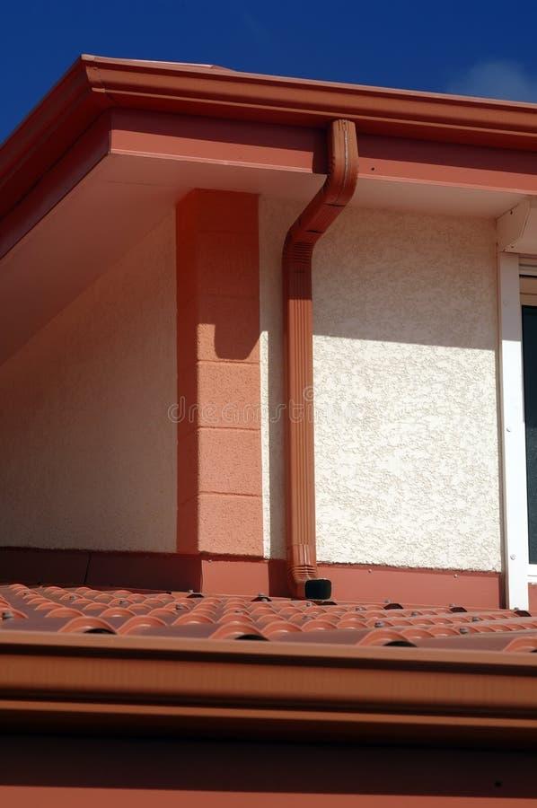 Деталь красной крыши стоковое фото