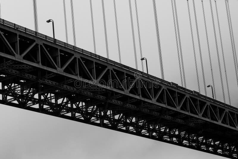 Деталь моста золотого строба стоковое фото