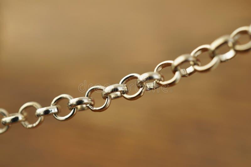 Деталь модной цепи используемой как украсьте аксессуар как ожерелье или браслет стоковая фотография rf