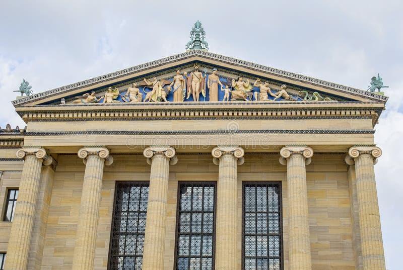 Деталь музея изобразительных искусств Филадельфии архитектурноакустическая стоковое изображение