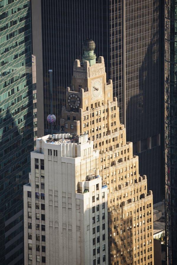Деталь небоскребов Таймс площадь стоковые фотографии rf