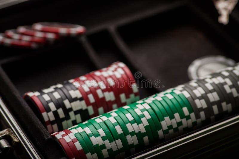 Деталь обломоков покера стоковое фото rf