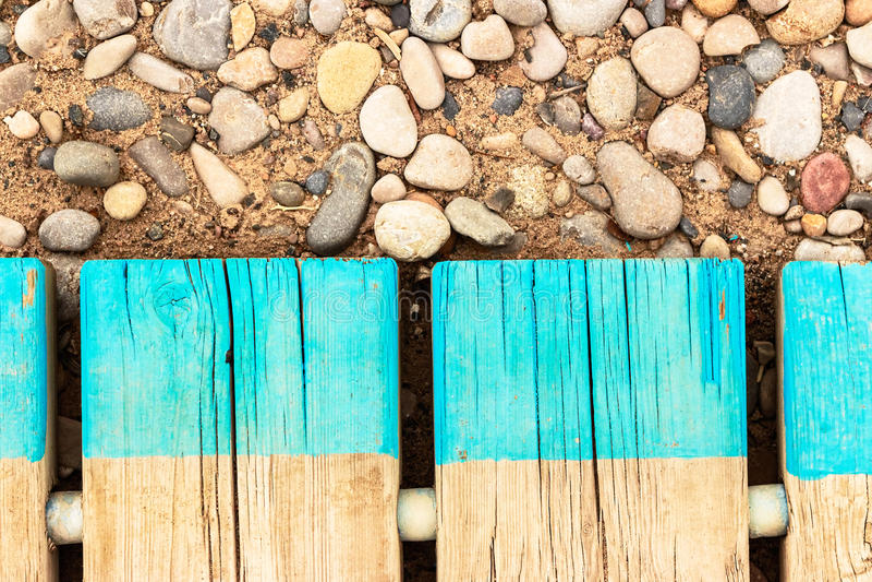 Деталь дорожки пляжа стоковые изображения rf