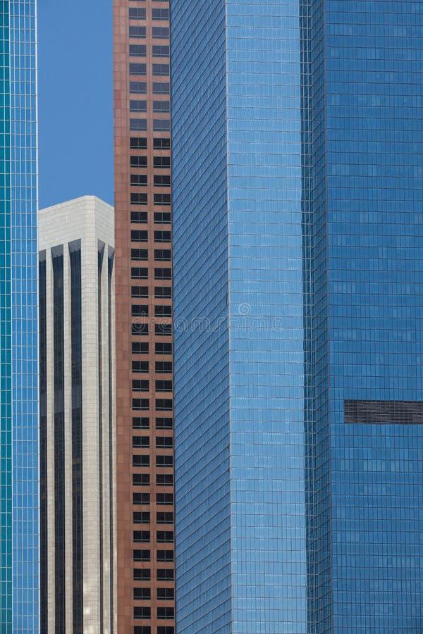 Деталь современные высокие небоскребы стоковые фотографии rf