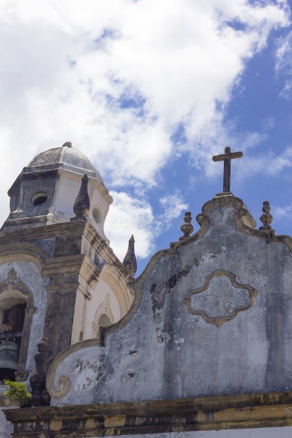 Деталь старой церков в Olinda, Ресифи, Бразилии стоковая фотография rf