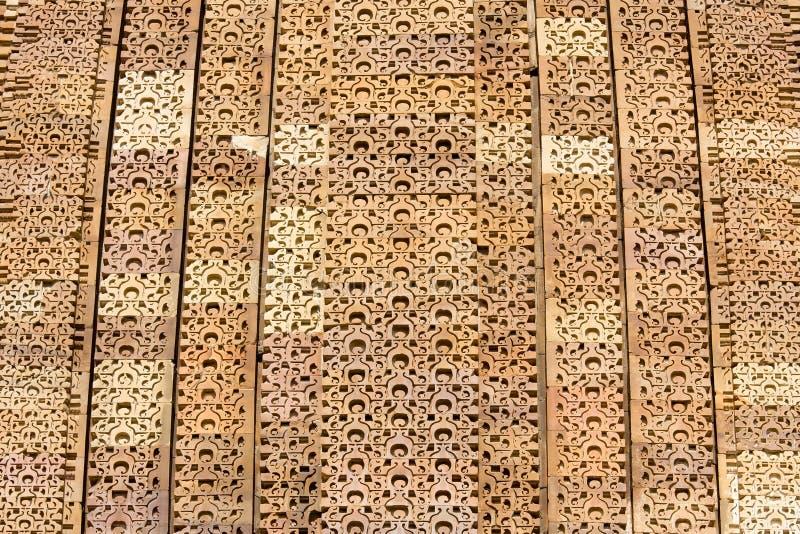 Деталь стены виска на Khajuraho, Индии стоковые изображения
