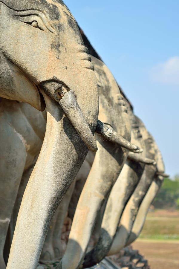 Деталь слона скульптуры стоковое фото rf
