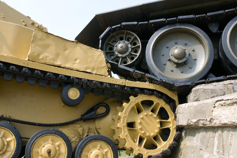 Деталь танка мемориальная - Словакия стоковое изображение rf