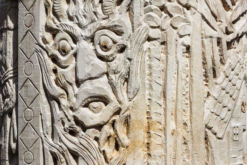 Деталь фонтана сказки в Steinau, Германии стоковое изображение