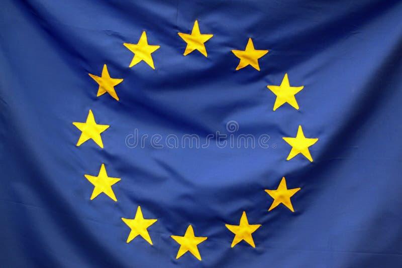 Деталь флага Европейского союза стоковое изображение rf