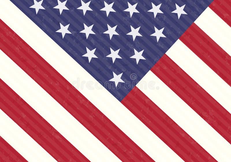 Деталь флага США иллюстрация вектора