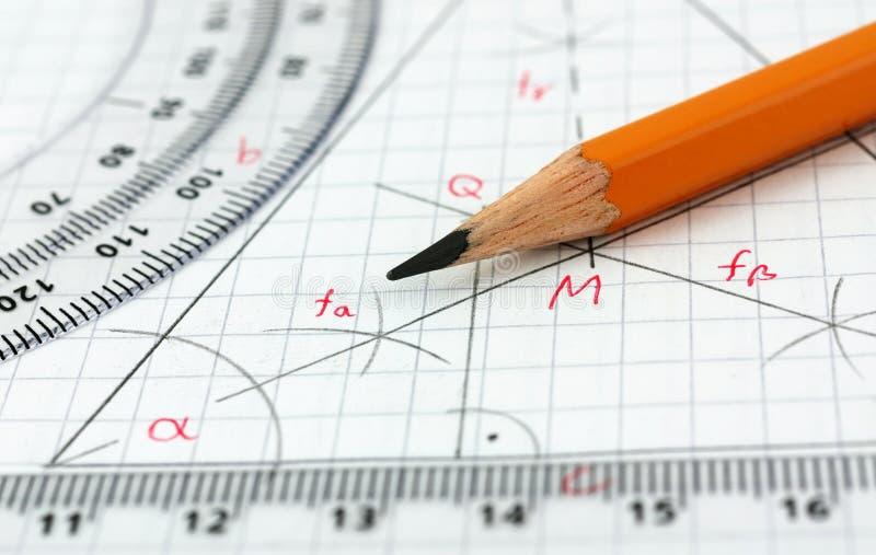Деталь чертежа геометрии стоковые фотографии rf
