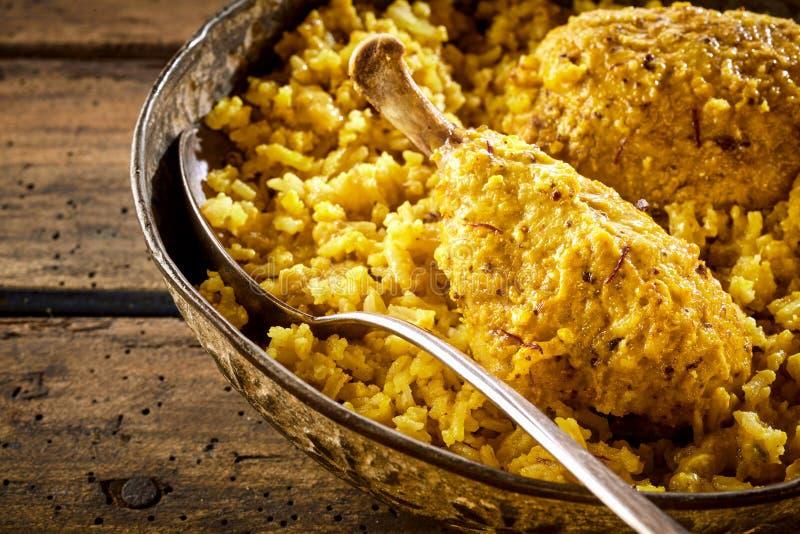 Деталь drumstick и риса biryani цыпленка стоковые изображения rf