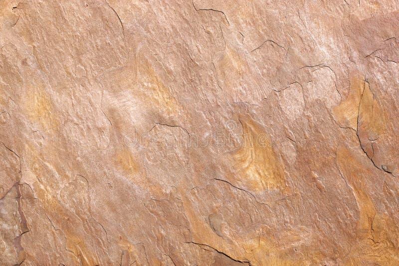 Деталь ocher каменного сляба стоковая фотография