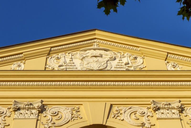 Деталь Seminarium Marianum, семинара Marinasky, в Trnava, Словакия стоковая фотография rf