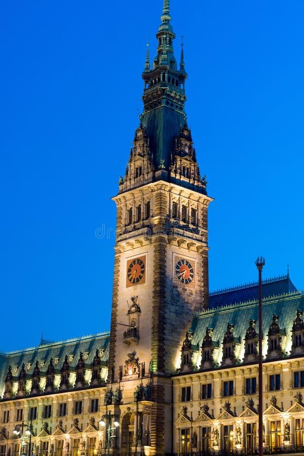 Деталь townhall Hamburgs стоковое фото