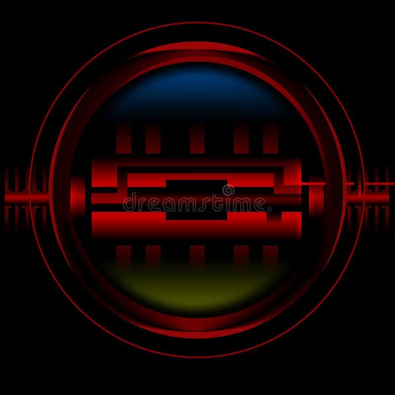 детектор иллюстрация вектора