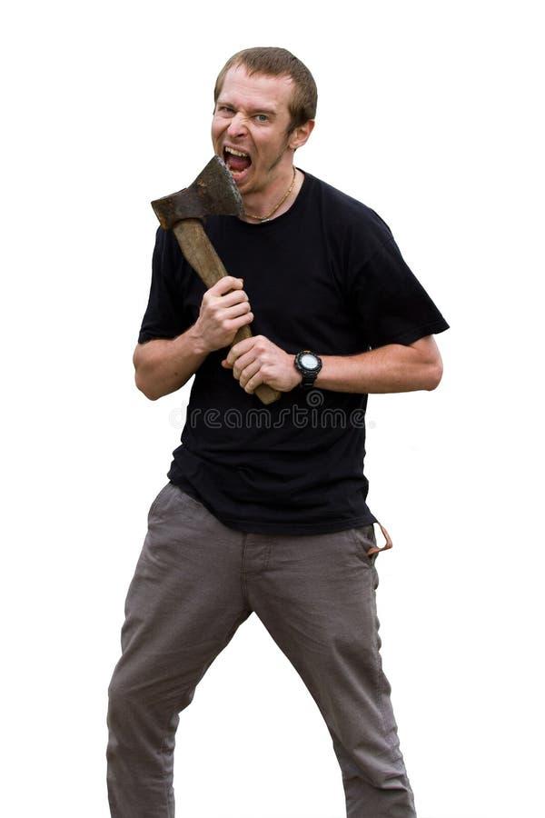 детеныши агрессивныйого человека оси белые стоковые фотографии rf
