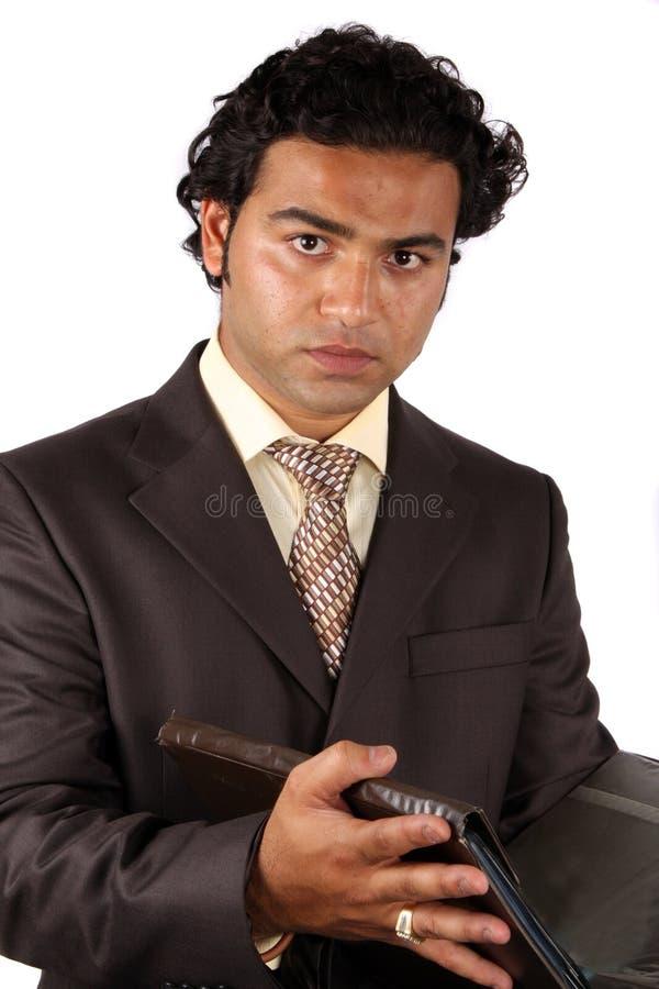 детеныши бизнесмена индийские стоковое фото