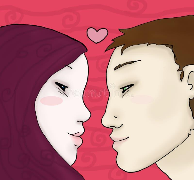 детеныши визирования влюбленности бесплатная иллюстрация