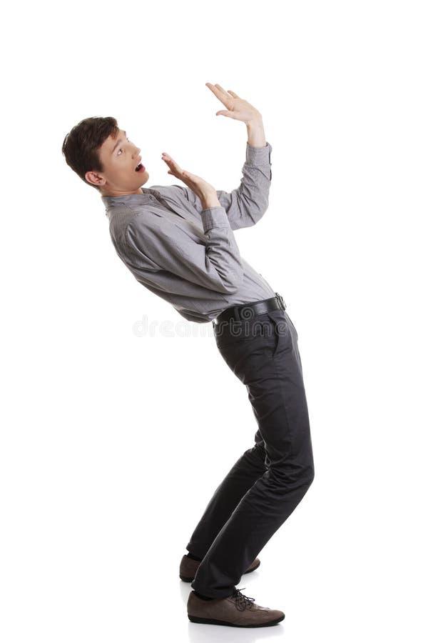 детеныши вспугнутые бизнесменом стоковое изображение rf