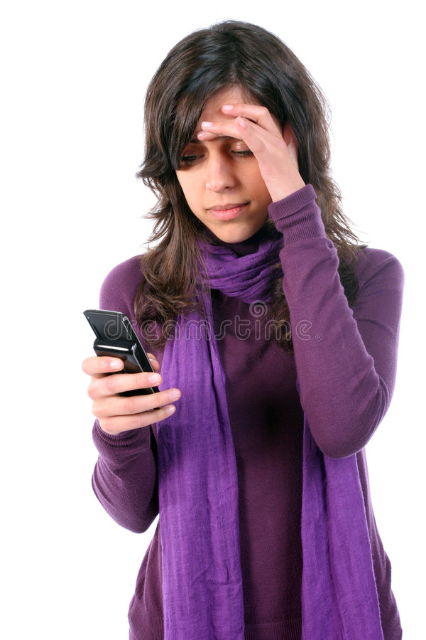 детеныши головной боли девушки утомленные стоковое фото rf