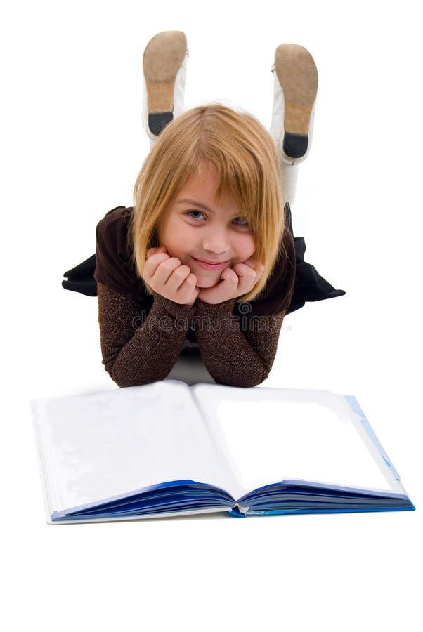 детеныши девушки книги стоковая фотография